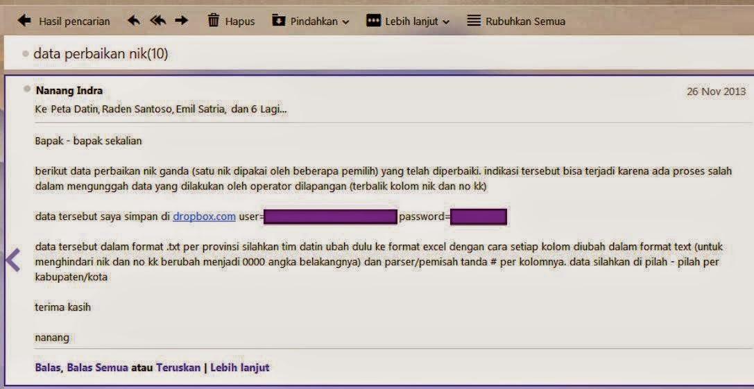 Password Dropobox KPU