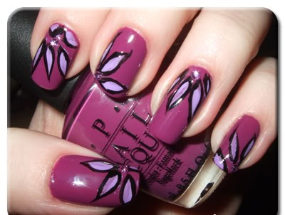 acrylic nails simple nail art tutorial