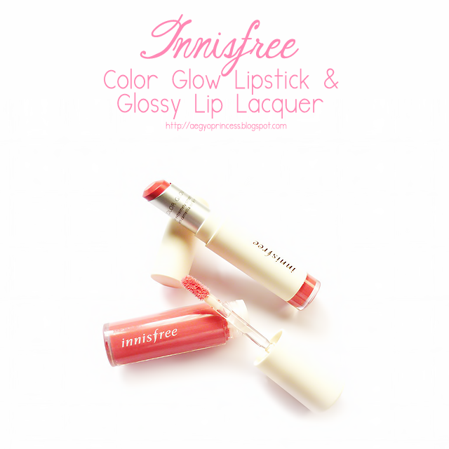 Innisfree Color Glow Lipstick and Glossy Lip Lacquer Review