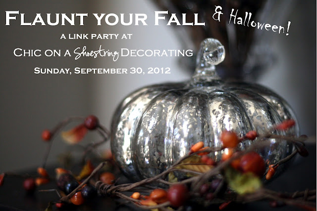 Fall link party at www.chiconashoestringdecorating.blogspot.com