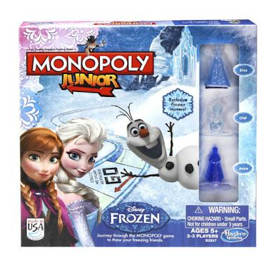 TOYS : JUGUETES - MONOPOLY Junior - Frozen Juego de Mesa | Producto Oficial Pelicula 2015 Hasbro  B2247 | A partir de 5 años | Jugadores: 2-3 Comprar en Amazon España & buy Amazon USA
