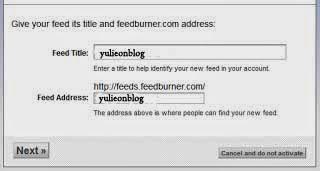Pentingnya  FEEDBURNER Buat Sebuah Blog