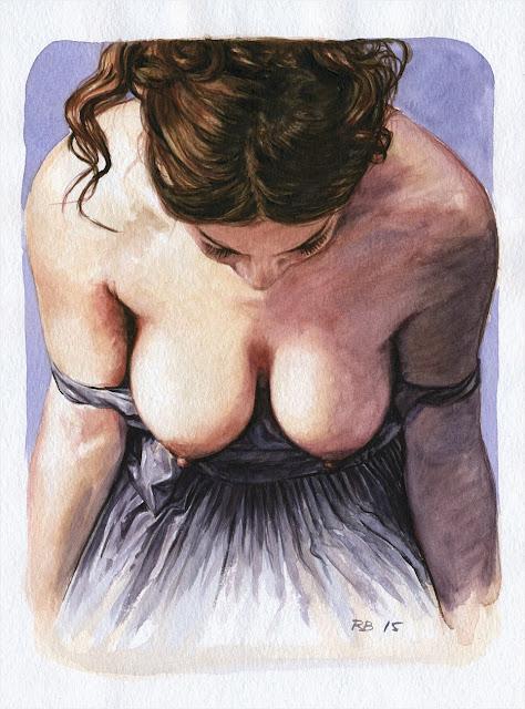 René Bui - Etude de nu à l'aquarelle 150132 - 2015