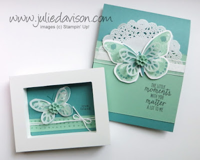 Stampin' Up! Watercolor Wings Projects with Mint Macaron t #stampinup www.juliedavison.com