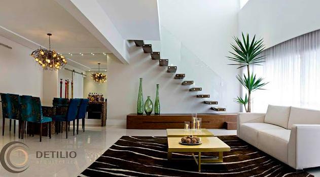 Como Usar Lustre Na Sala De Estar ~ Construindo Minha Casa Clean 65 Salas de Jantar e Estar Integradas
