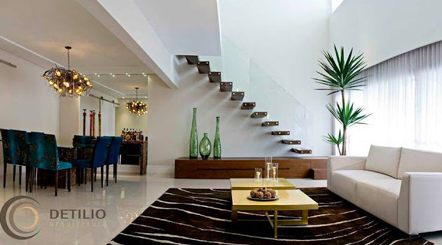 #474262 Construindo Minha Casa Clean 65 Salas de Jantar e Estar Integradas Veja Dicas e Qual  631x350 píxeis em Ambientes De Sala De Estar Jantar Modernos E Sofisticados