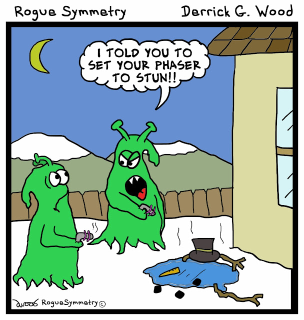 Merry Christmas cartoon or comic from Rogue Symmetry