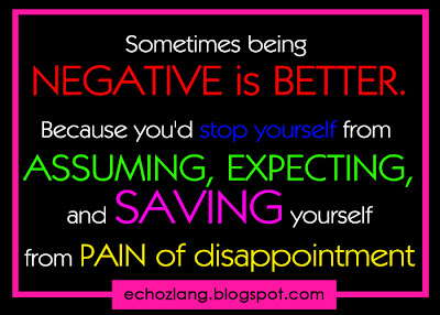Sometimes being negative is better