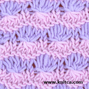 Slip Stitch Color Knitting : knitca: Two color slip stitch pattern with amazing texture.