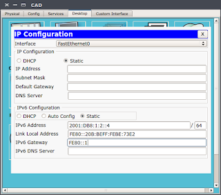 8.2.5.3 Packet Tracer - Configuring IPv6 Addressing
