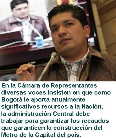 BOGOTÁ: En Cámara de Representantes insisten en que, Metro de Bogotá debe hacerse como sea