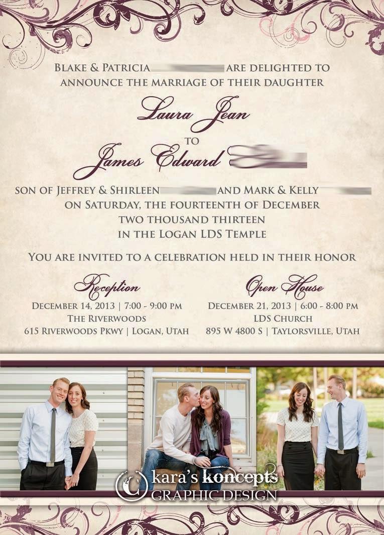 Kara\'s Koncepts Graphic Design - Custom Wedding Invitations, Canvas ...