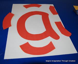 Letter a jigsaw