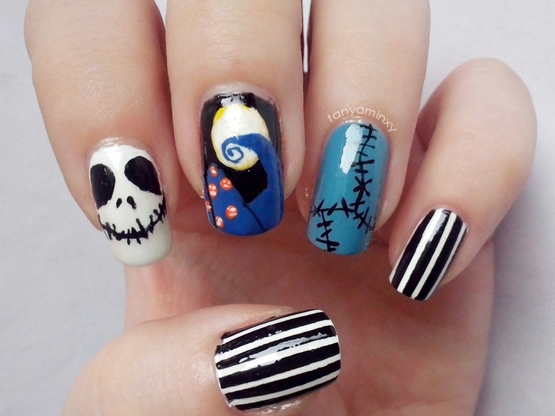 Funky Jack Skellington Nail Design Image - Nail Paint Design Ideas ...