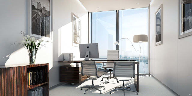 Picture of small modern office in the south tower of Hudson Yards