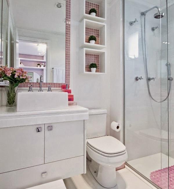 Nossa Casa Nova Inspirações para banheiro pequeno -> Banheiro Com Pastilhas No Vaso