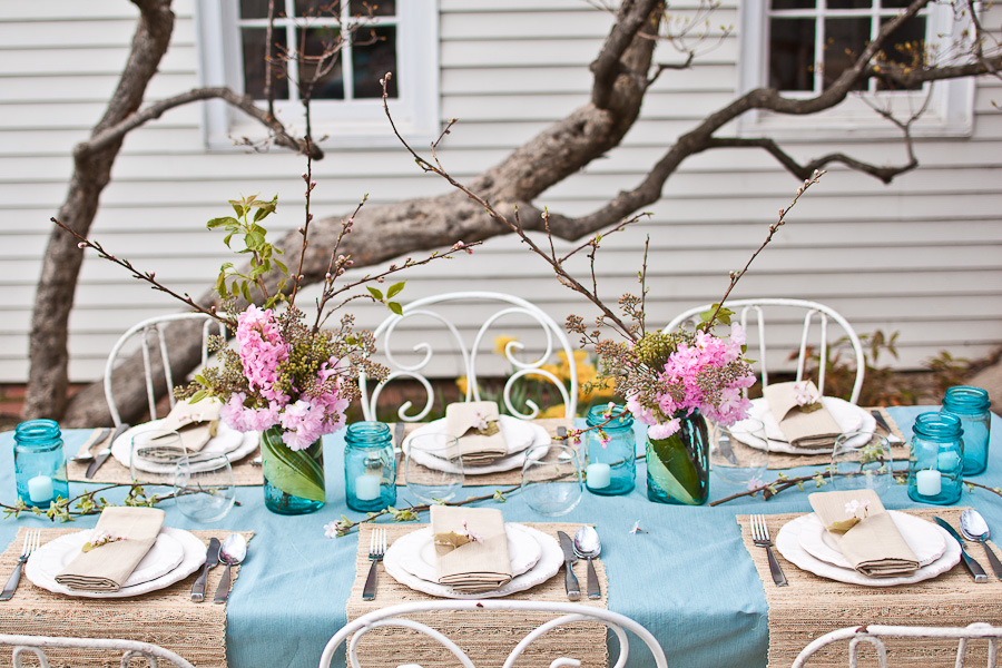 This beautiful Spring Bridal Shower shoot was created by Sarah of Events by