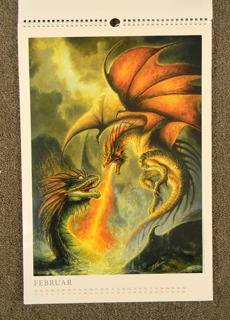 Art Handler Calendar : Bob s art du jour christmas gifts the dragon calendar
