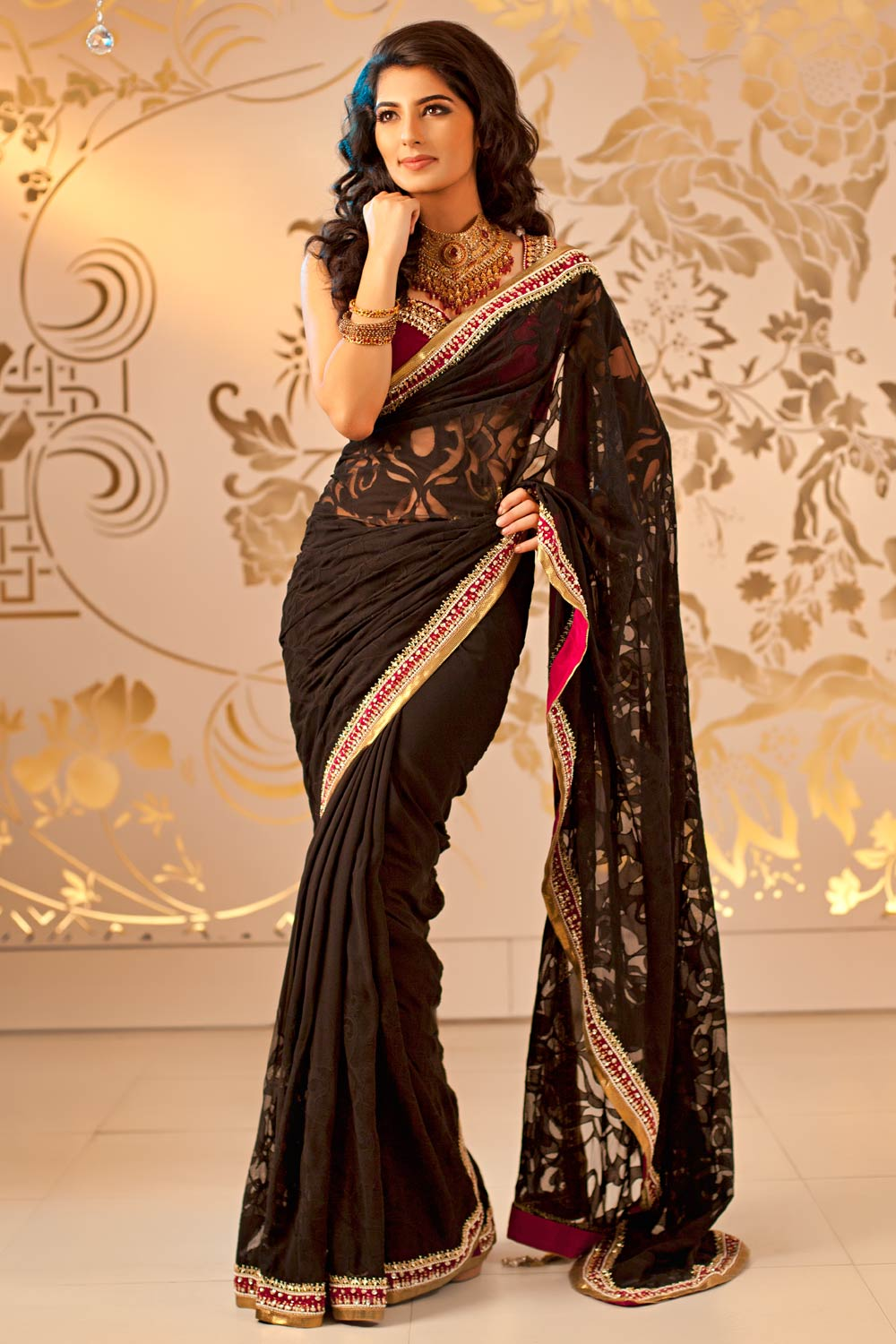 Indian Sarees 2014 Designs Online For Kids Images Design Patterns Online Shopping Wedding Blouse