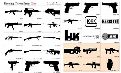 Guns shapes