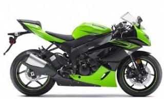 2011 Kawasaki Ninja ZX-6R green black