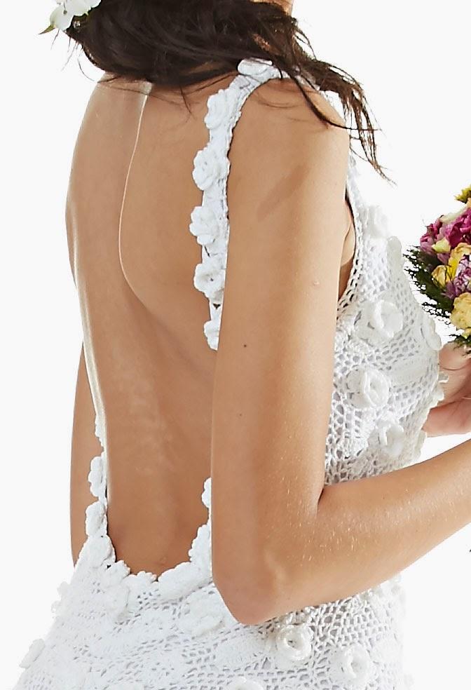 Vestido de noiva de crochê maravilhoso - Receita, gráfico e fotos