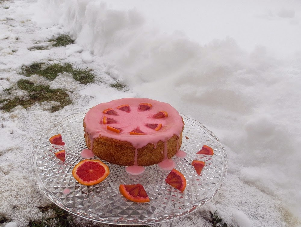 Blutorangen-Marzipan-Torte