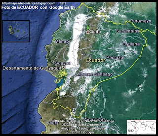 Mapa de ECUADOR, Google Earth