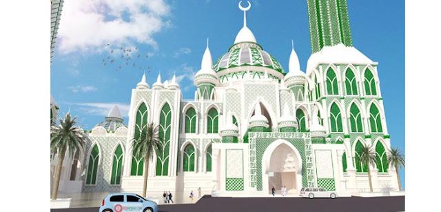 Wow ! Masjid Agung Medan Akan di Renovasi Menjadi Megah
