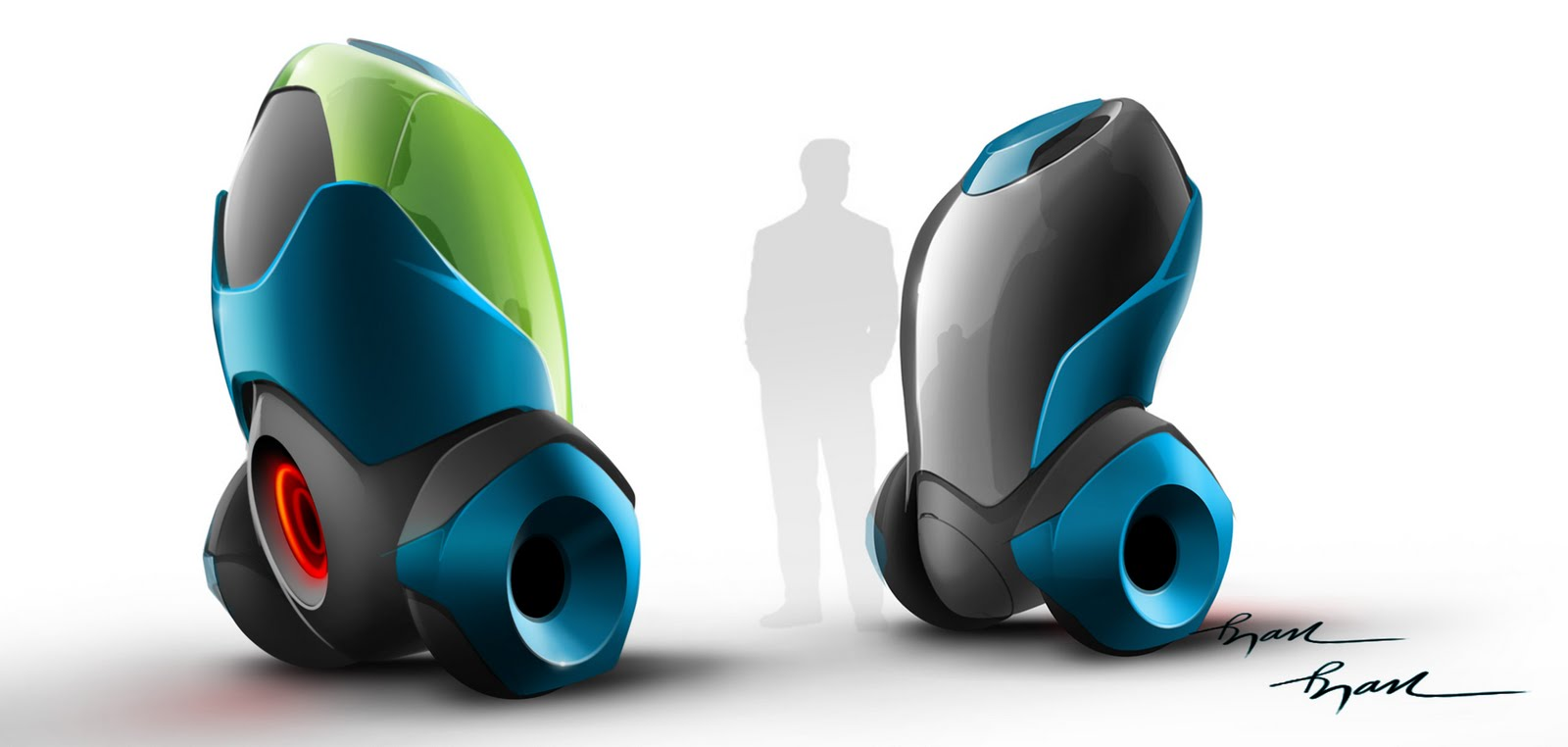Automotive concept sketch for future single person transport by ryan