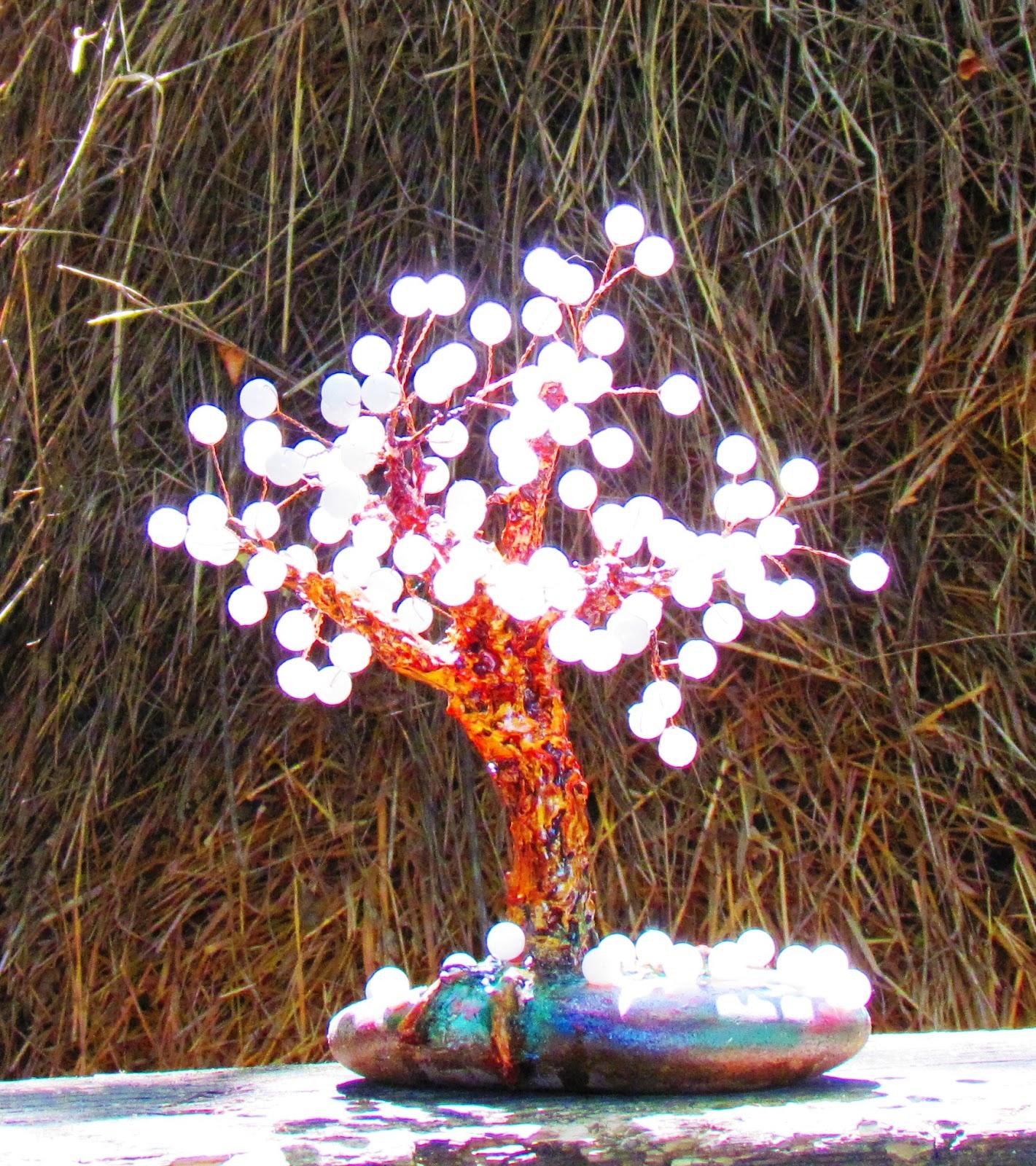Дерево из бисера и бусин своими руками