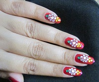 Red Bridal; nail Art