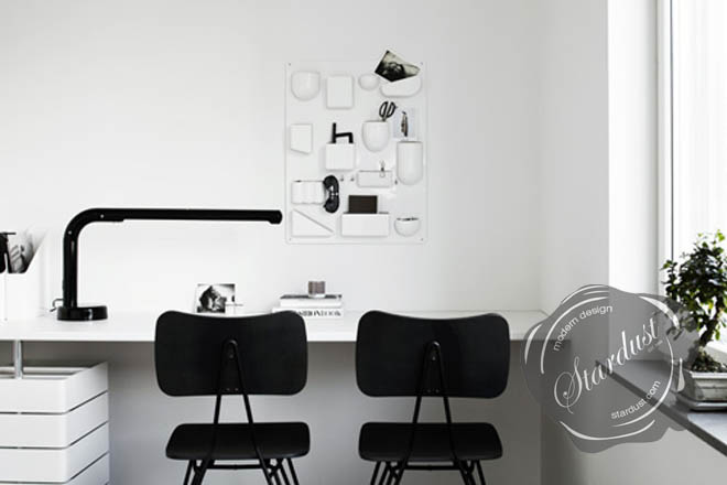utensilo the modern white office wall organizer from vitra