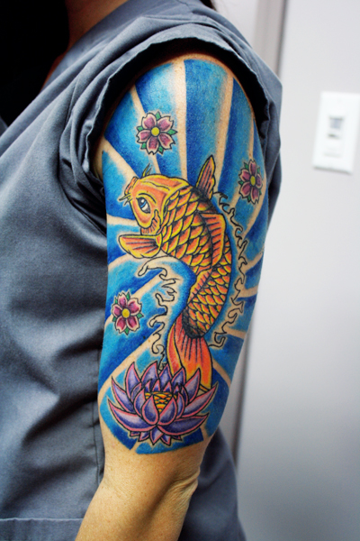Koi Fish Sleeve Tattoo...