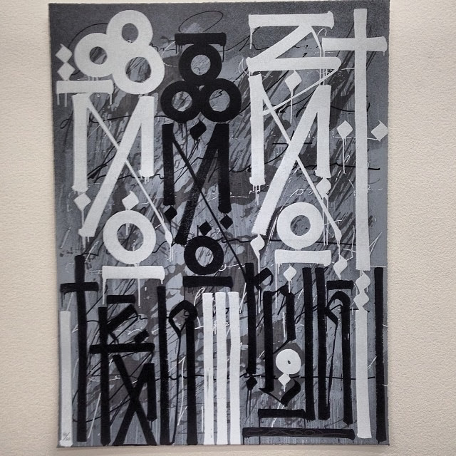 """Eastern Realm"" a new limited edition screenprint by famed street artist RETNA. 2"