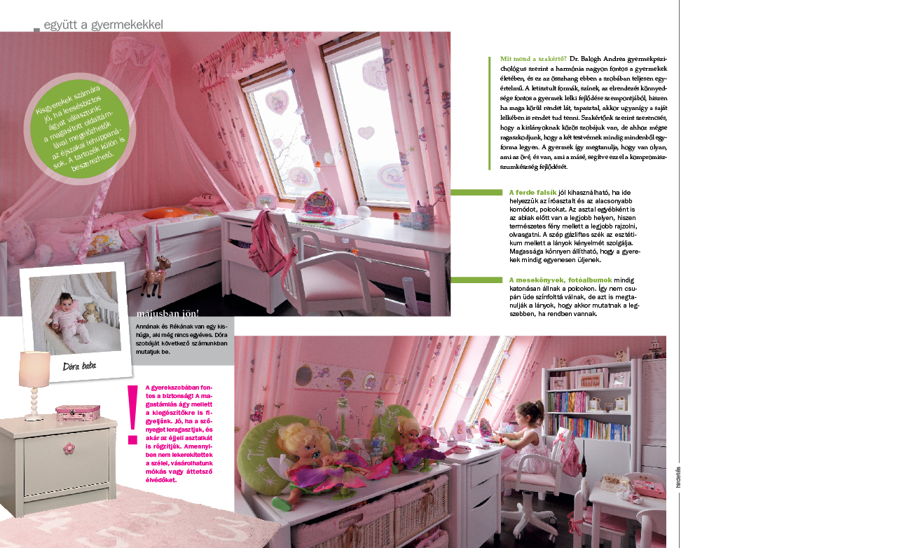Otthon és dekor: Rózsaszín, hercegnős lányszoba (cikk)