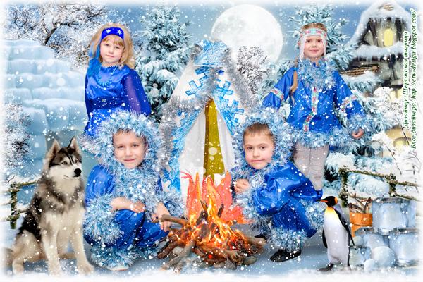 Детский Зимний Коллаж