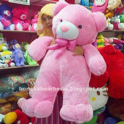boneka beruang besar murah pink
