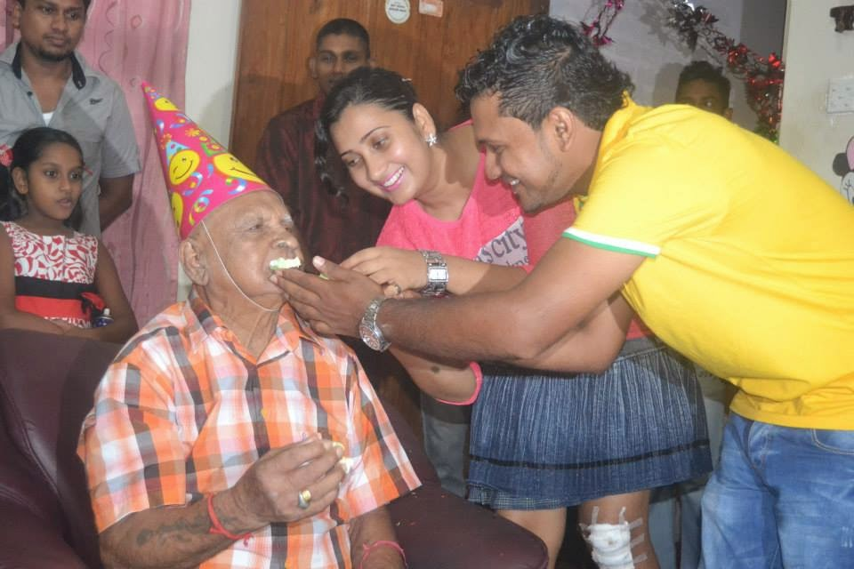 Madhu Nithyani grand father birthday