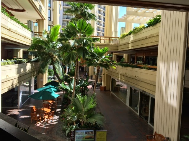 シティホテル中庭
