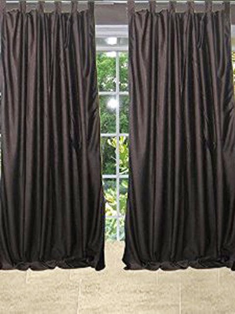 http://www.mogulinterior.com/indian-coffee-brown-tab-top-sari-window-treatment-curtain.html
