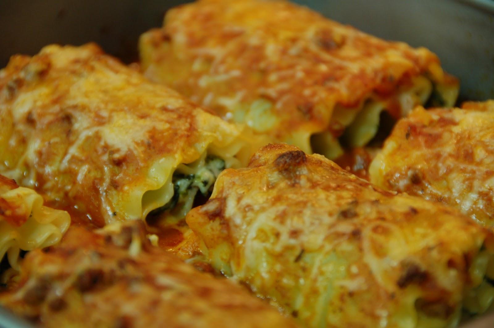 THE SERENDIPITY BISTRO: Spinach Lasagna Rolls