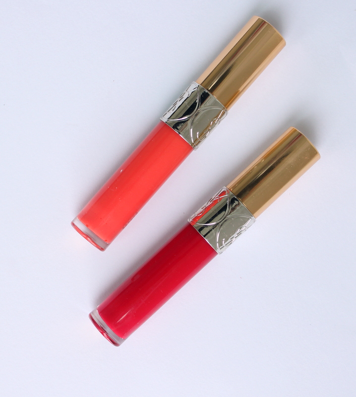 YSL Gloss Volupté 204 Corail Trapeze and 206 Fuchsia Oran