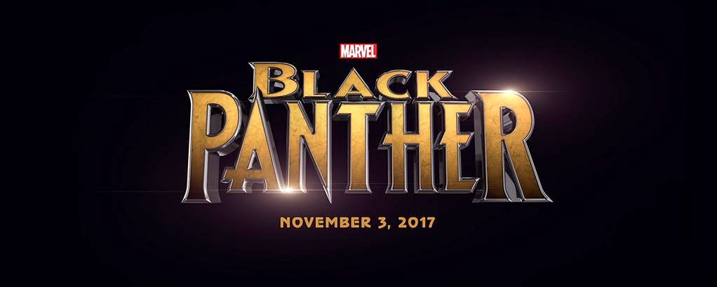 HD Black Panther film poster logo