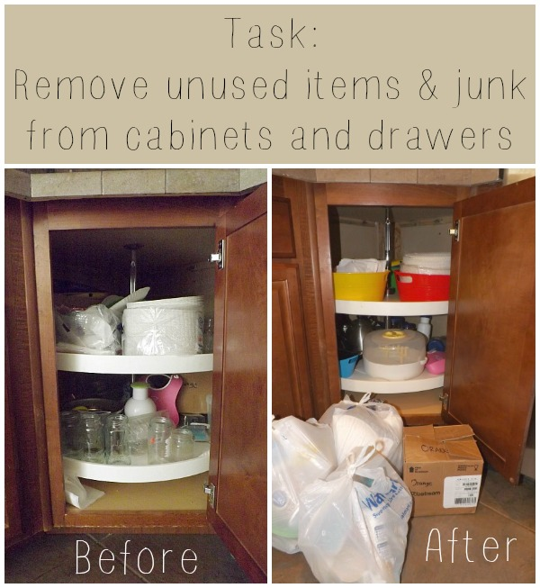 De-Clutter Challenge week 1 ~ Kitchen, Pantry & Dinning Room