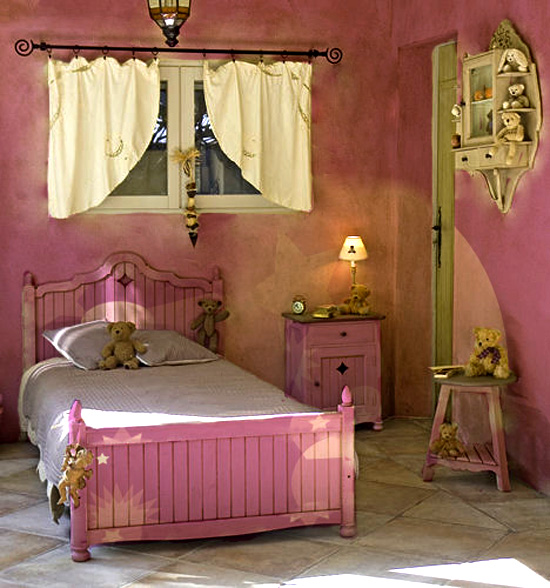 Dormitorios color rosa para ni as rom nticas dormitorios - Cortinas dormitorio nina ...