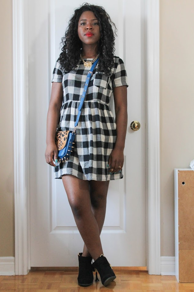 forever 21 dress, shoedazzle, monochrome outfit, personal style blogger, 90s fashion, canadian fashion blog