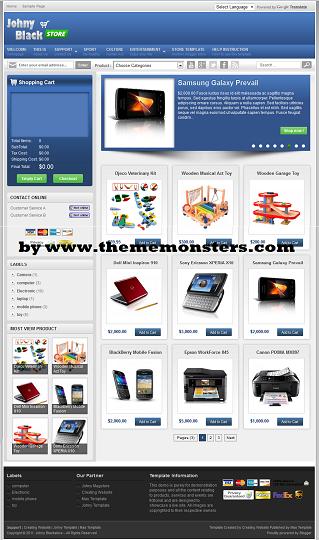 Free Blogspot Theme Amazon Online Store