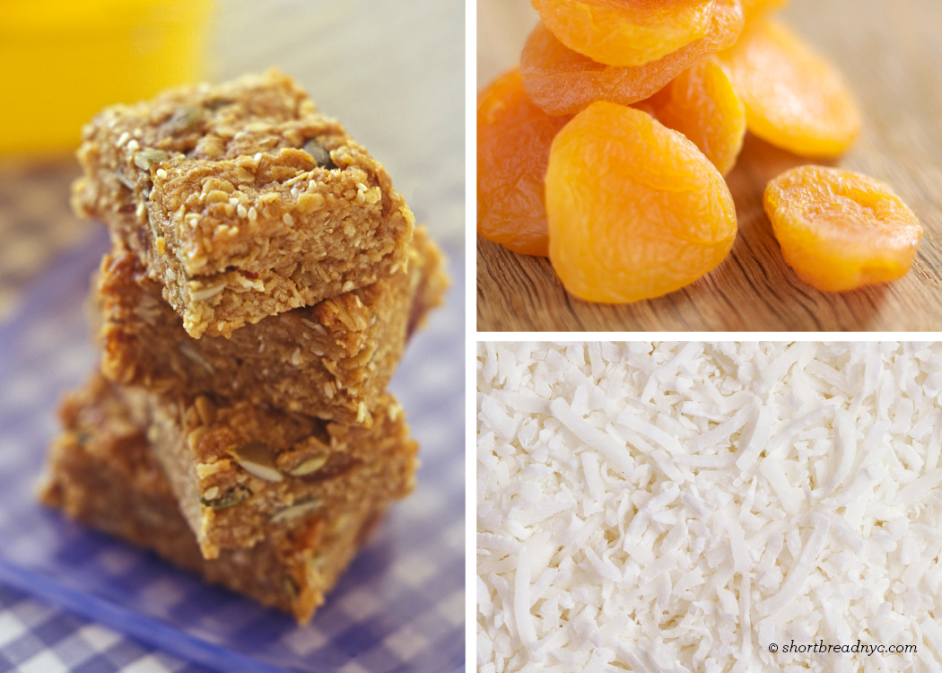 gluten free vegan apricot coconut power bars yield 8 bars