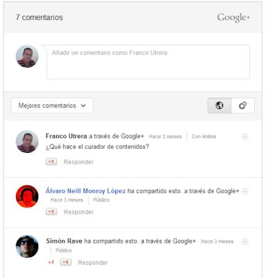 Integra el sistema de comentarios de Google+ a Blogger.
